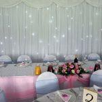 2 middlesex-cricket-club-wedding-north-london-starlight-backdrop-birdcages