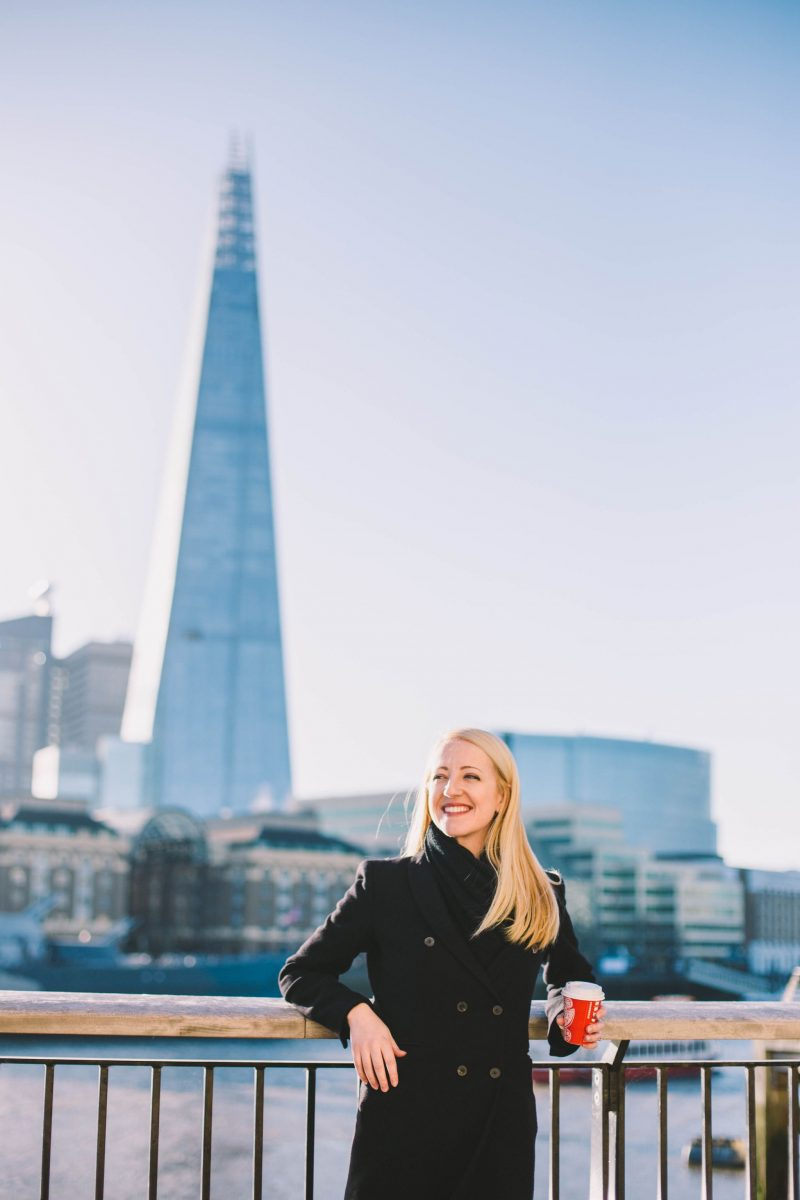 laura-devine-bride-wedding-tasker-planner-london-east-the-shard-coffee-cup-starbucks-view