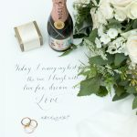 4 styled-shoot-wedding-styling-modern-english-rose-gaynes-park-tea-set-gold-rings-moet