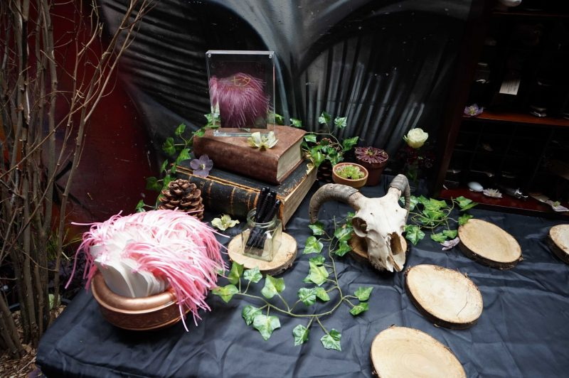 10 goth-wedding-curious-table-curiosities-wish-tree-cheese-table-laura-devine-bride-planner-tasker