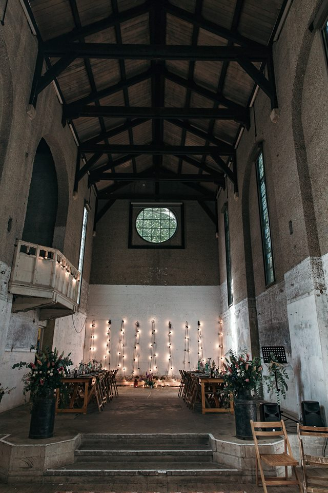 11 devine-bride-wedding-planner-east-london-dilston-grove-dry-hire-warehouse-wedding-urban-church-festoon-lights