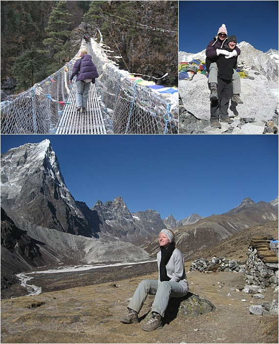 laura-devine-bride-wedding-everest-base-camp-trekking-trek-keep-fit-mountain-rope-bridge