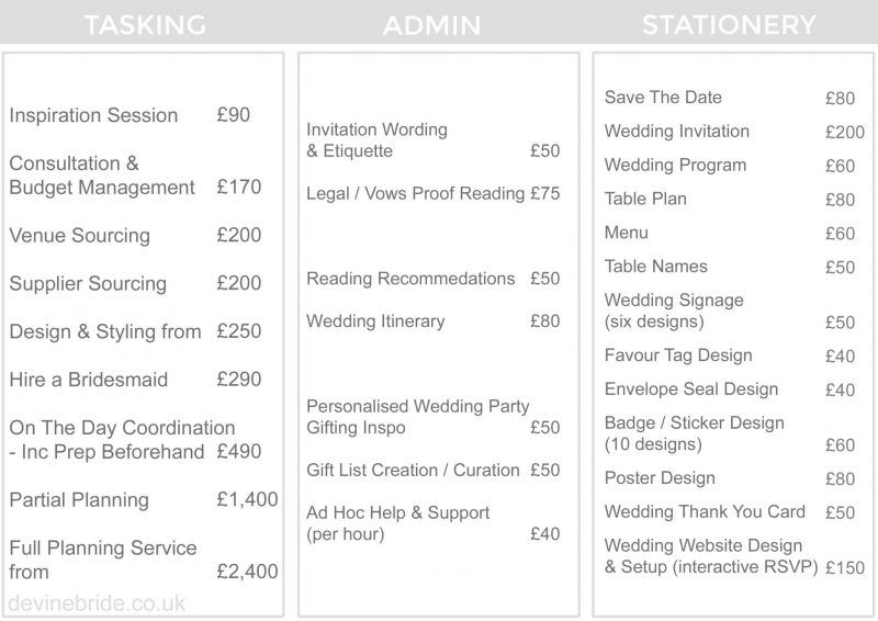 devine-bride-east-london-wedding-planner-services