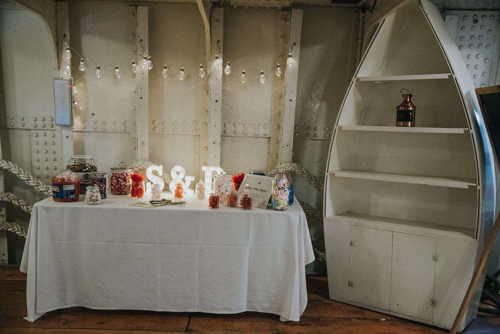 The-tall-ship-wedding-glasgow-alternative-wedding-party-boat-party-venue-dresser-venue-dressing-glasgow