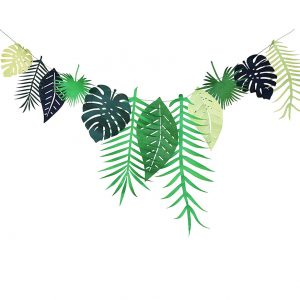 Tropical Leaf Banner Bunting