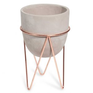 Copper and Cement Planter/Centrepiece
