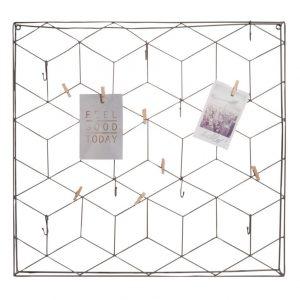 Grey Metal Wire Memo Board/Table Plan