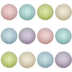 Pastel Lanterns x 12