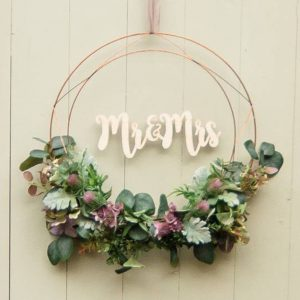 Mr + Mrs Floral Wreath