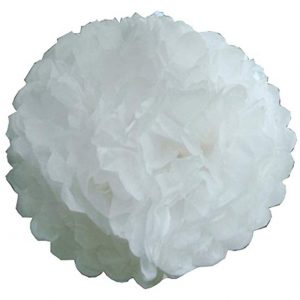 White Pompoms x 10