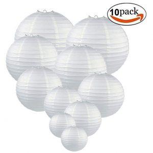 White Round Lanterns x 10