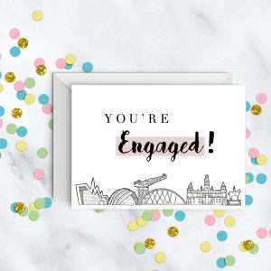 you're-engaged-engagement-card-glasgow-skyline