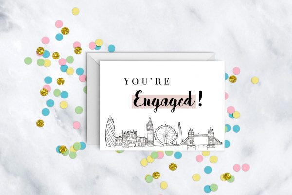 you're-engaged-engagement-card-london-skyline
