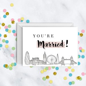 you're-married-london-skyline-wedding-card