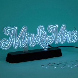 Fizz Wedding Mr & Mrs Neon Light sign