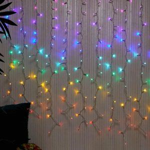 Typo Cascading Lights Rainbow