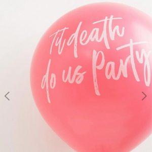 Ginger Ray Til Death Do Us Party Tassel 36 Inch Balloon Kit