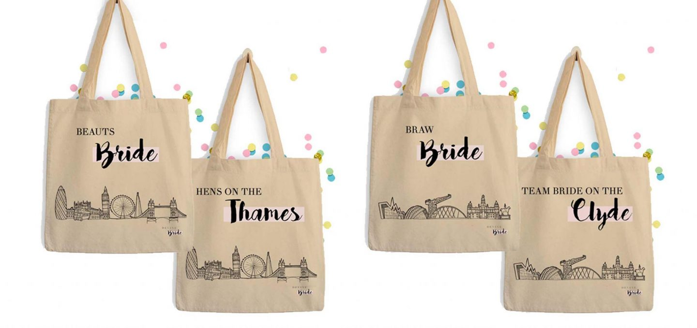 devine-bride-tote-bags-braw-bride-beauts-bride-hens-hen-party