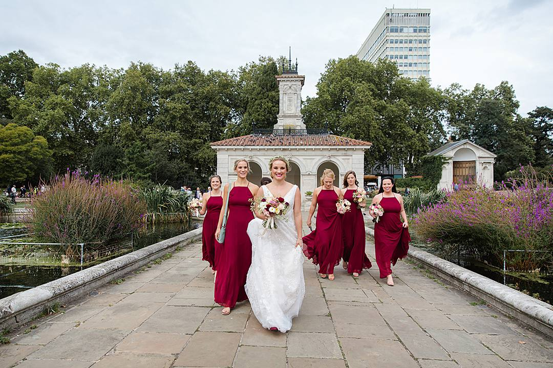 Wedding Eve Reassurance - 5 Things I Tell All My Couples - Devine Bride, London Wedding, City Wedding, The Union Bar, UK Wedding Planner, Chich Wedding Dress, Red Bridesmaid Dresses, Notting Hill Gate, Green & Envy, London Florist, Paddington Wedding