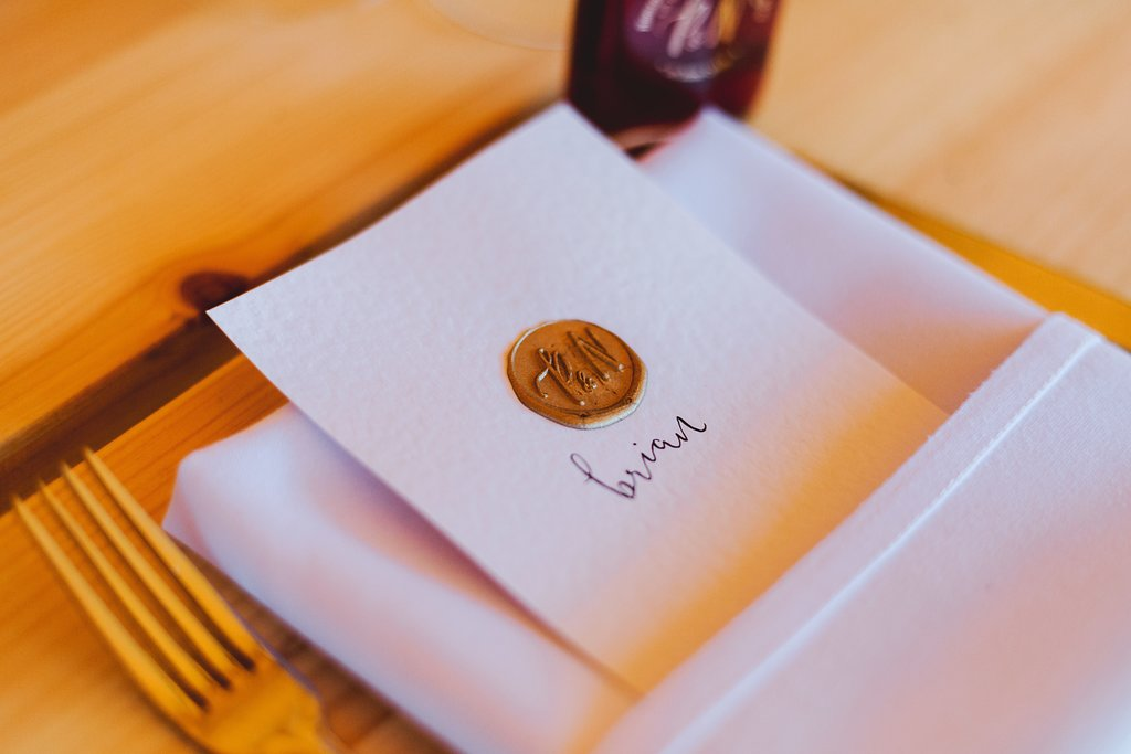 Wedding Checklist place settings and place names for your wedding breakfast