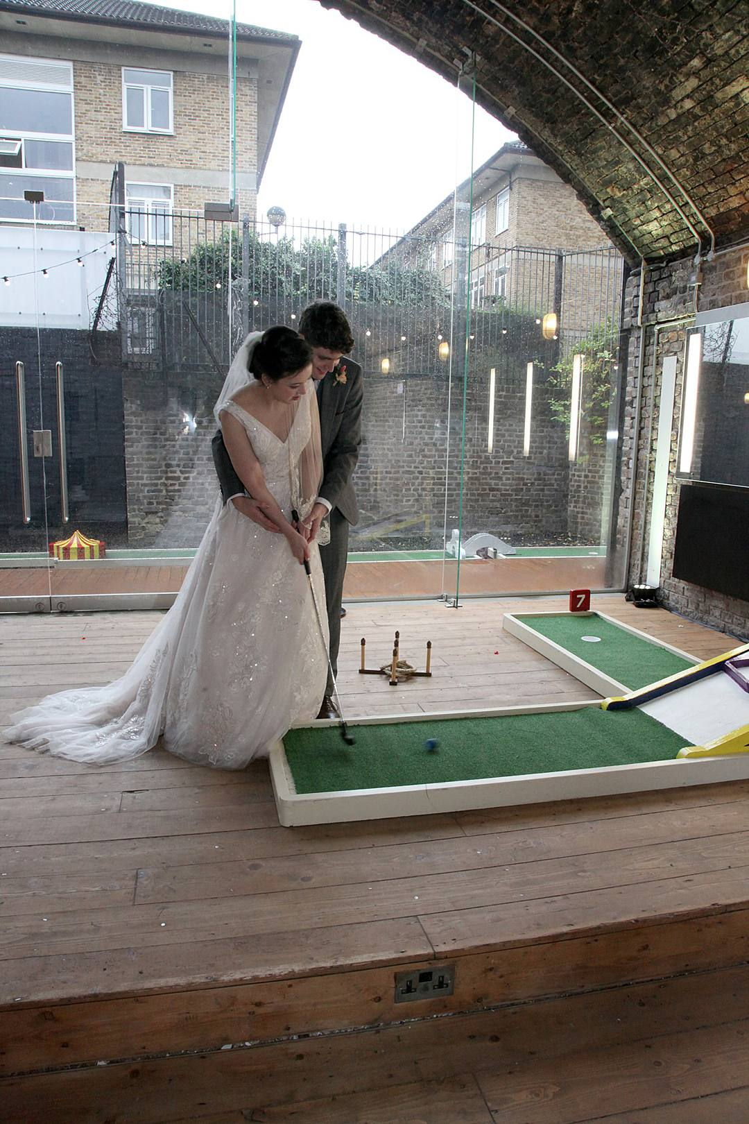 Fun Hackney Wedding,, Crazy Golf, Profiterole Tower, Red London Bus Hire, Wedding Planner, City Wedding, Event Planner, London Wedding Planner, City Weddings, Devine Bride