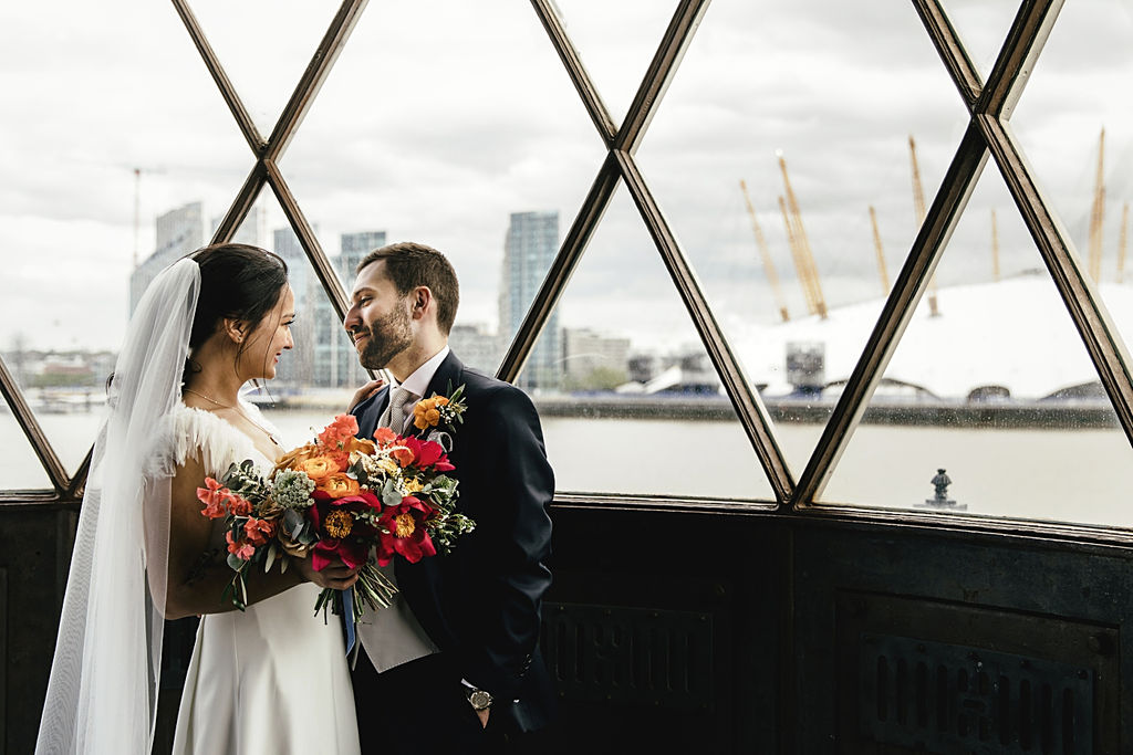 A contemporary and cool wedding at Trinity Buoy Wharf in the lighthouse london wedding views