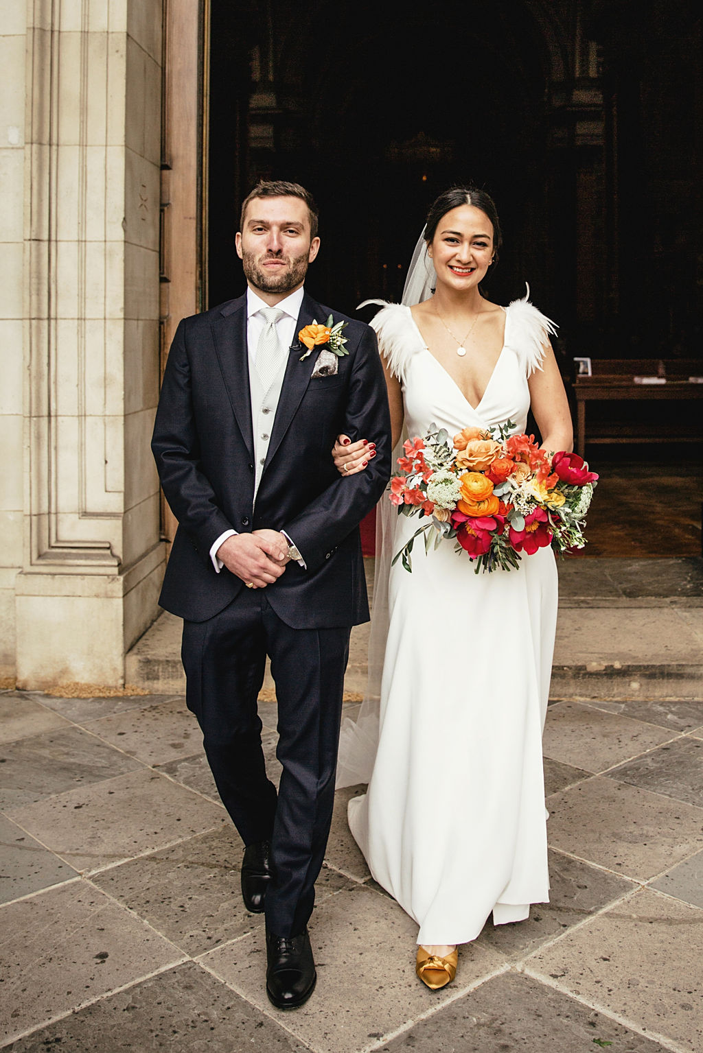 A contemporary and cool wedding at Trinity Buoy Wharf just married