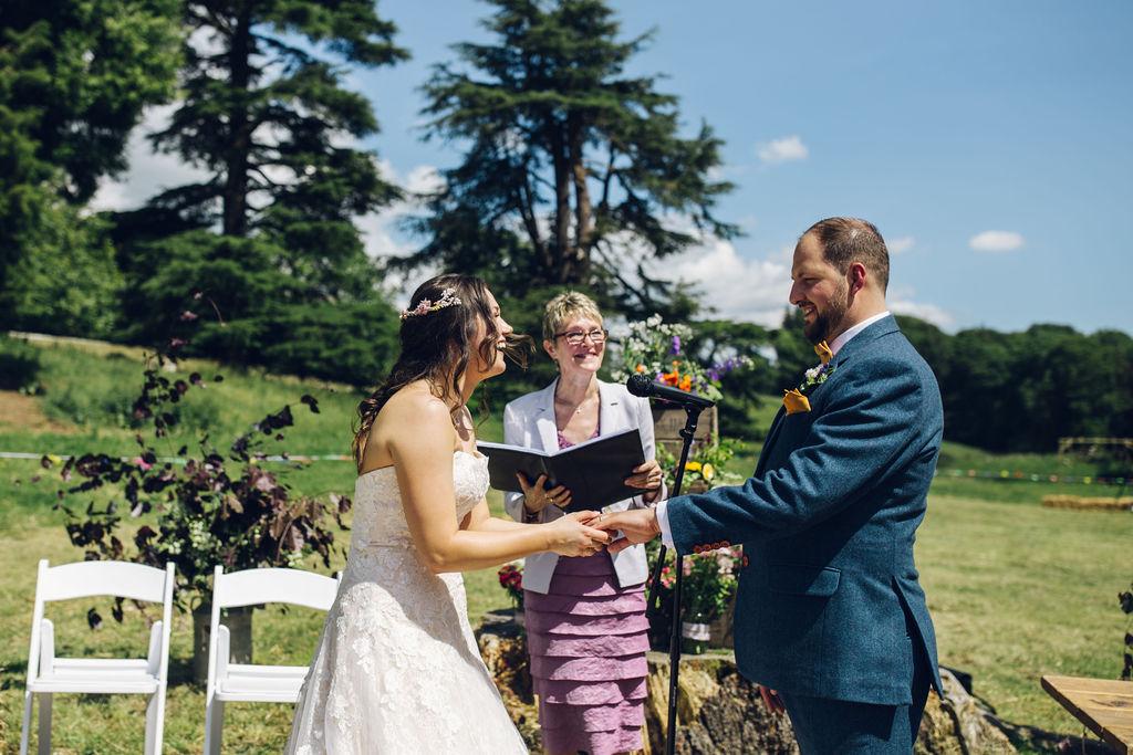 oudoor ceremony tipi wedding