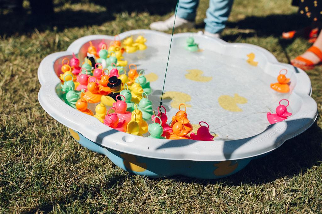 wedding garden games hook a duck