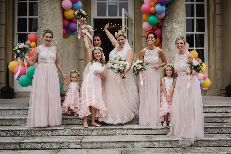 Bubblegum Balloons Wedding Decor, Buxted Park bridesmaids