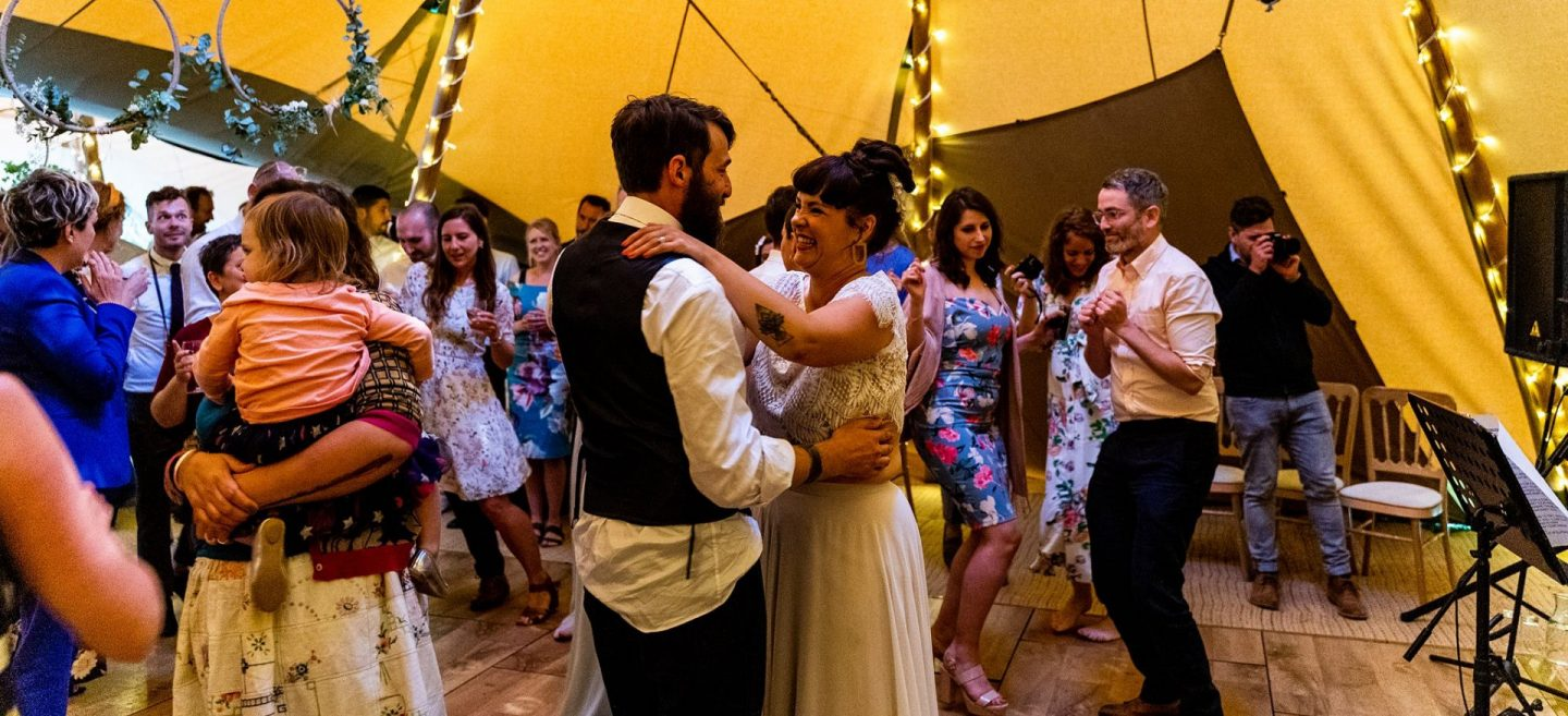 Tipi Wedding Sussex First dance