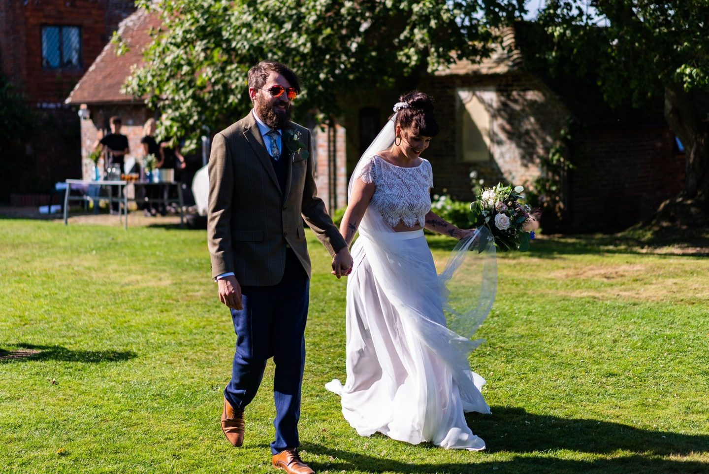 Tipi Wedding Sussex bridal two piece