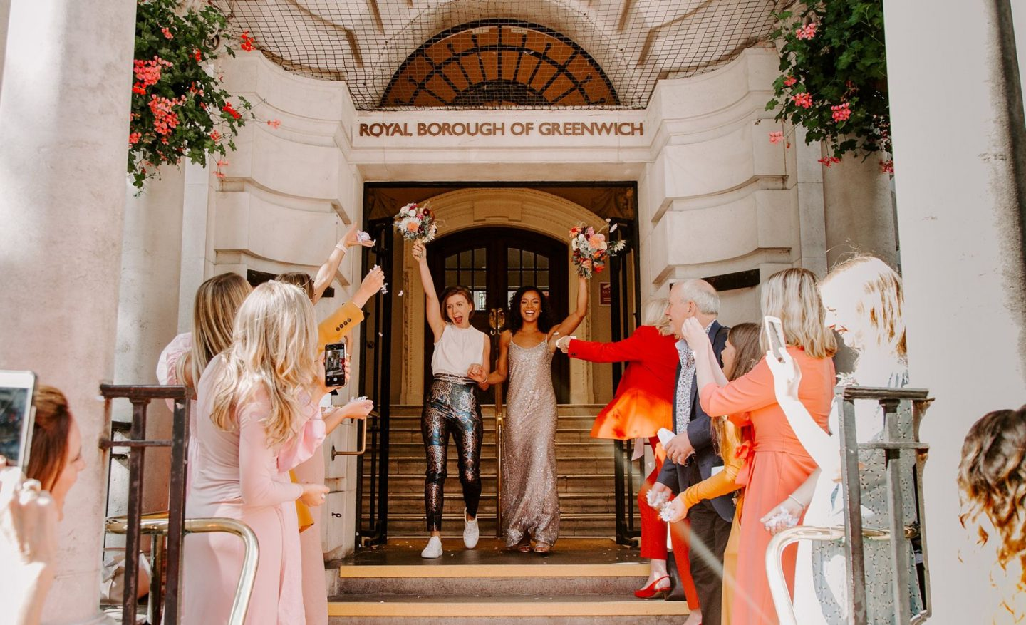 Woolwich Town Hall wedding featured on Rock n Roll Bride