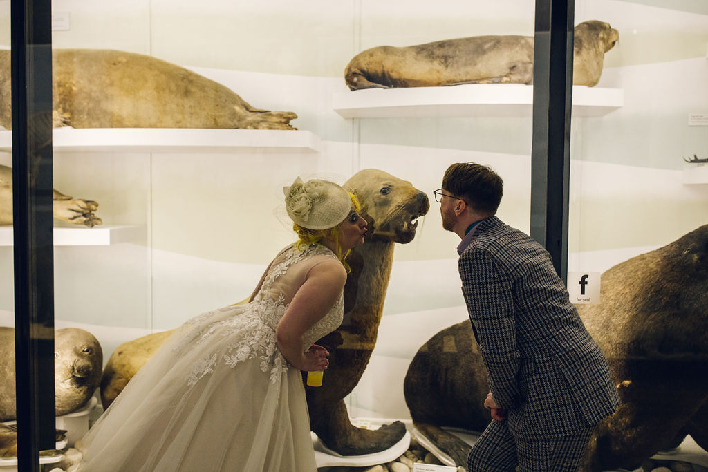 wedding at the Natural History Museum