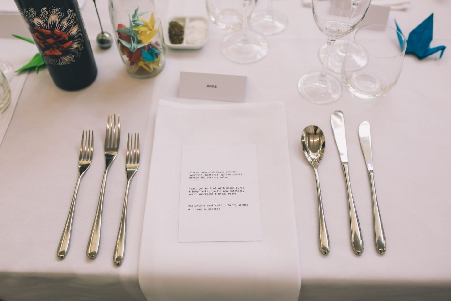 south london gallery place setting