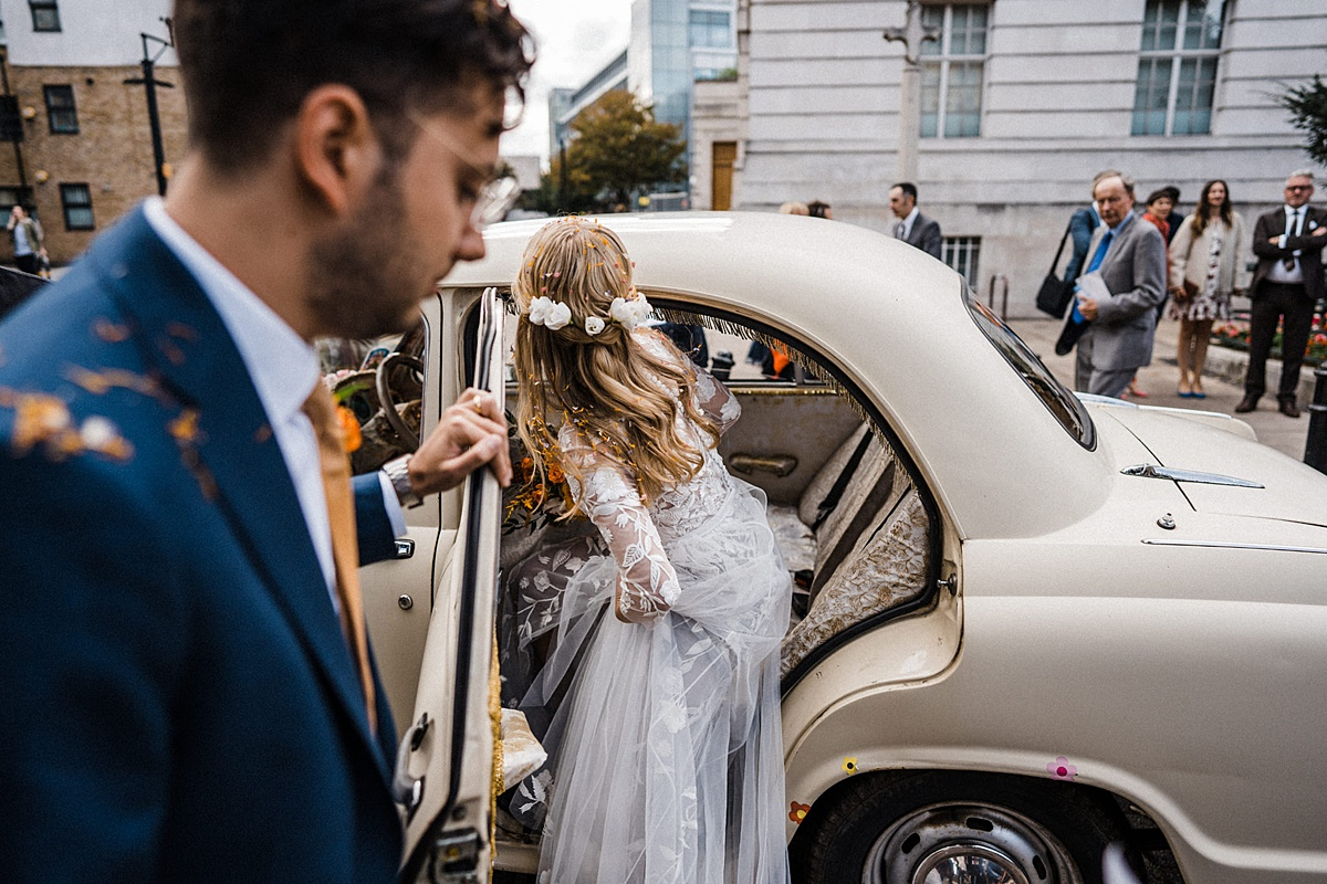 Hackney Town Hall Wedding The Atria ambassador car