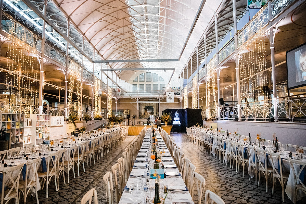 V&A Museum of Childhood wedding East London trestle tables wedding breakfast