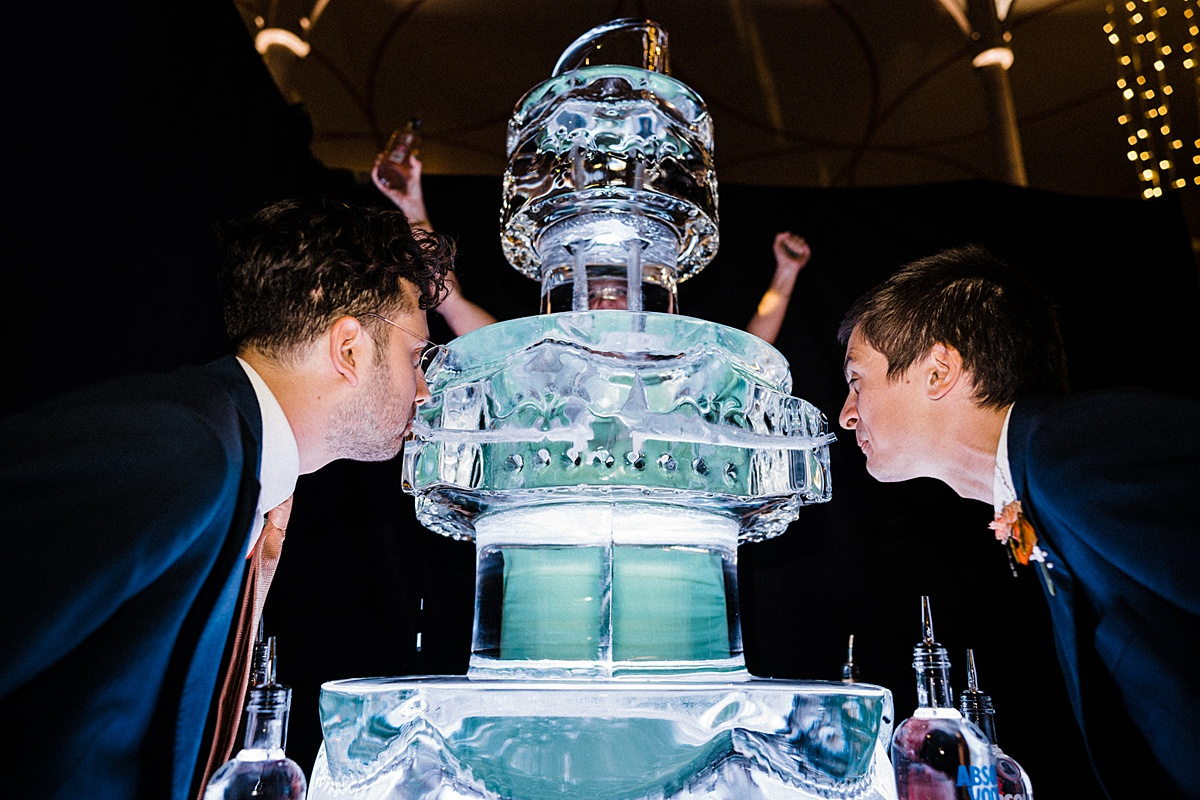 V&A Museum of Childhood wedding East London ice luge wedding cake