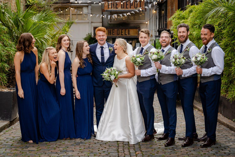 The Depot N7 London Pub Wedding wedding party