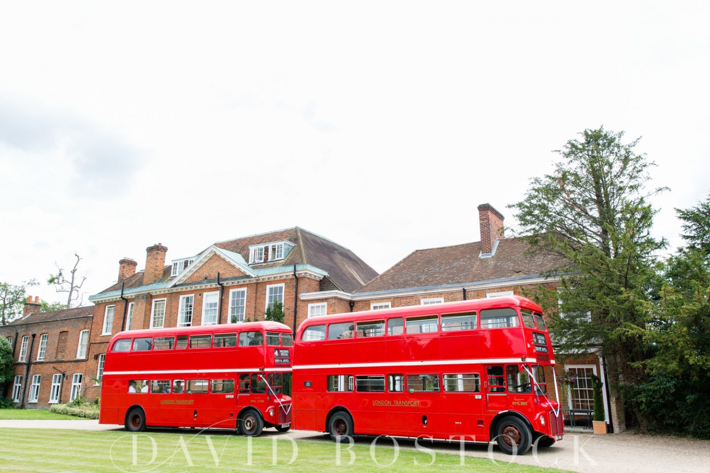 Stoke Place Hotel Wedding Red Routemaster