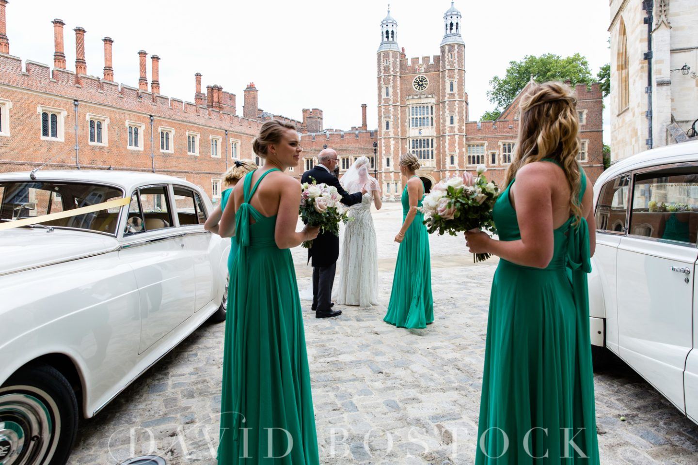 Eton College Chapel Wedding bridesmaids