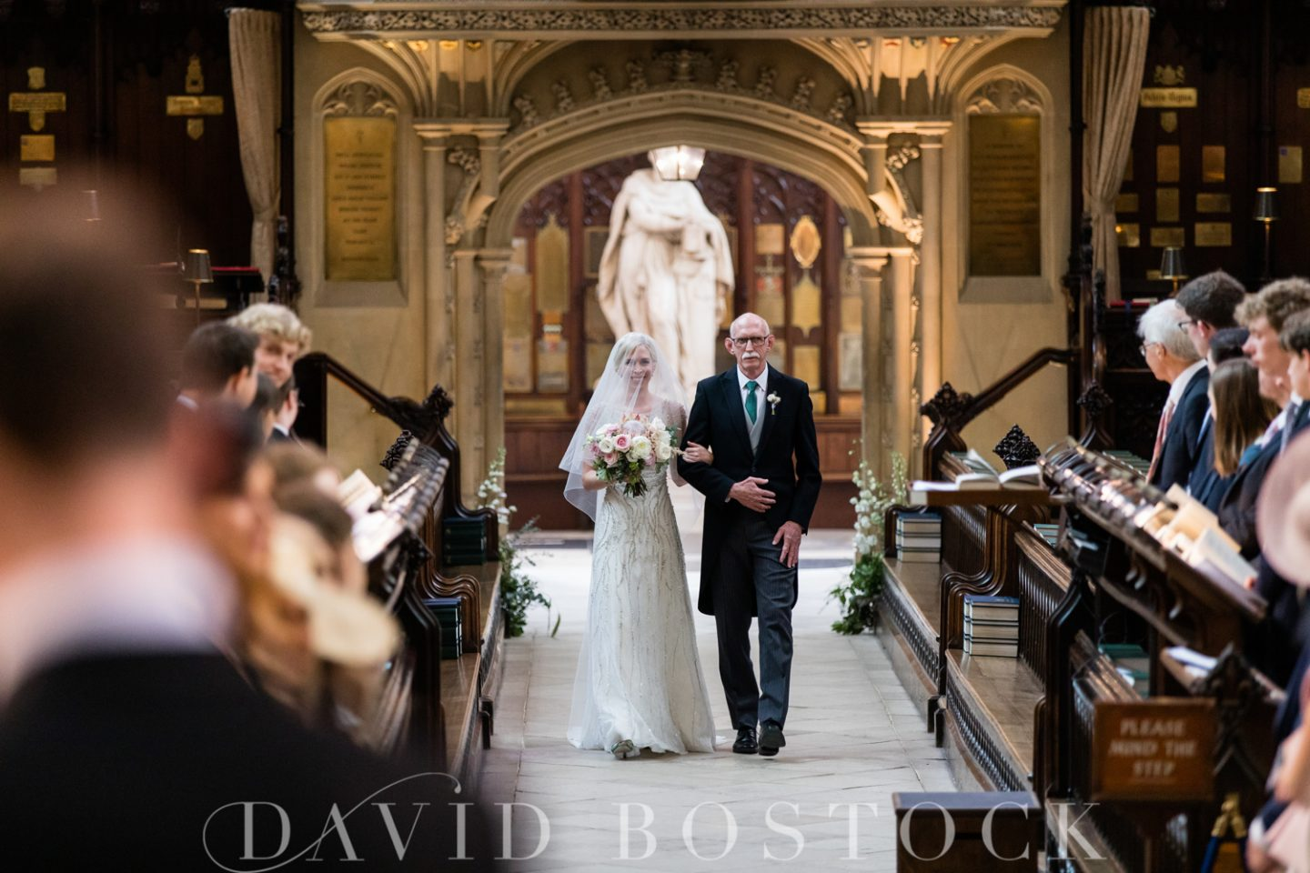 Eton College Chapel Wedding Bride + Dather of the Bride