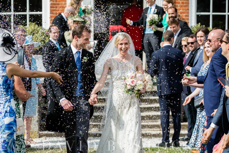 Stoke Place Hotel Wedding Confetti Shot