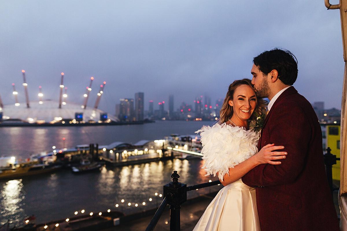NYE Wedding Trinity Buoy Wharf London Views