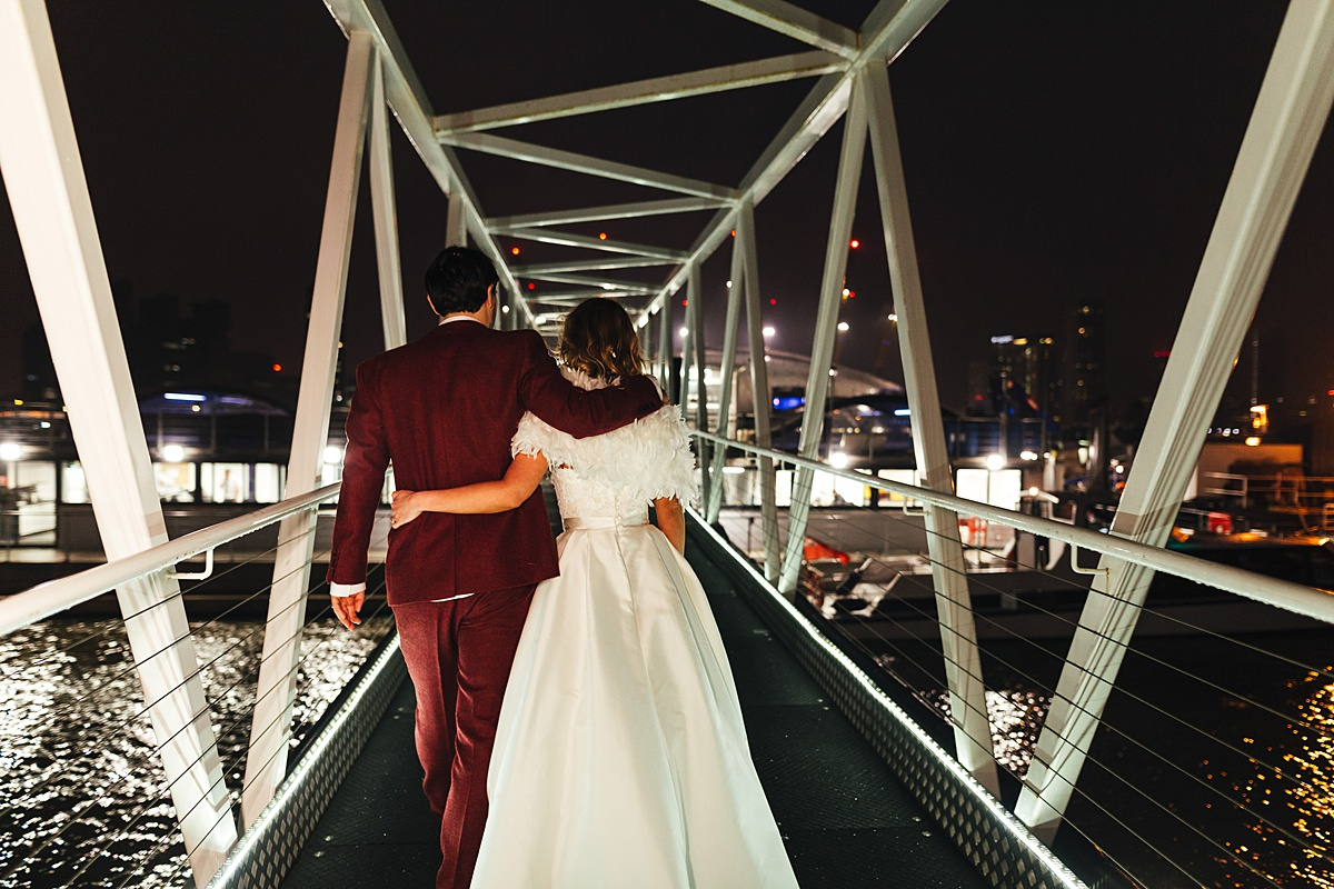 NYE Wedding Trinity Buoy Wharf Thames Clipper