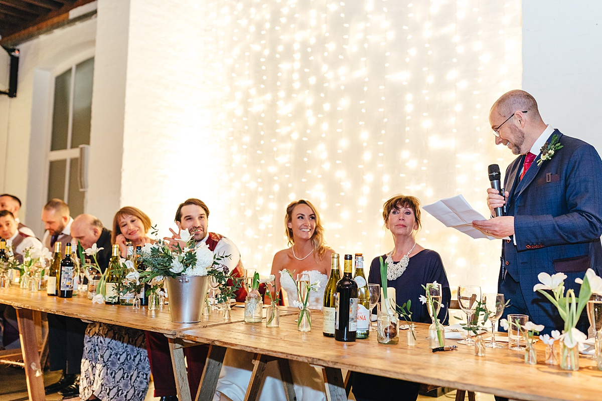 NYE Wedding Trinity Buoy Wharf speeches