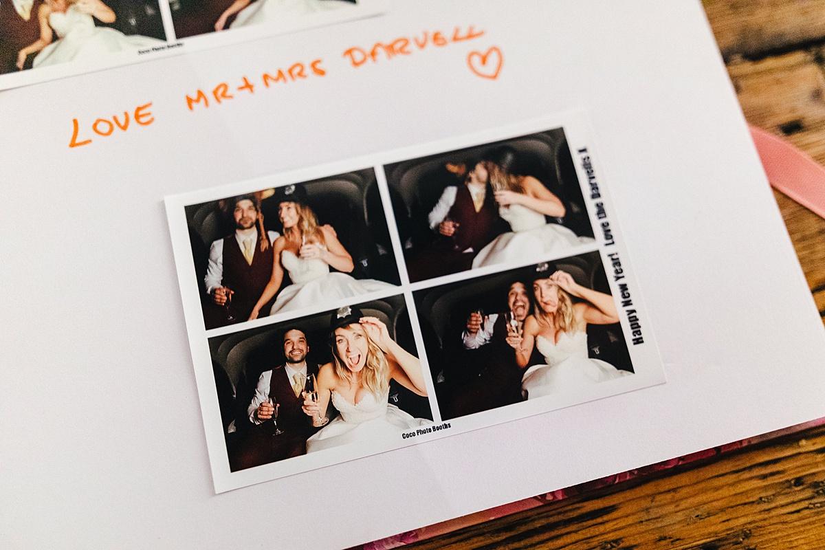 NYE Wedding Trinity Buoy Wharf photobooth guestbook