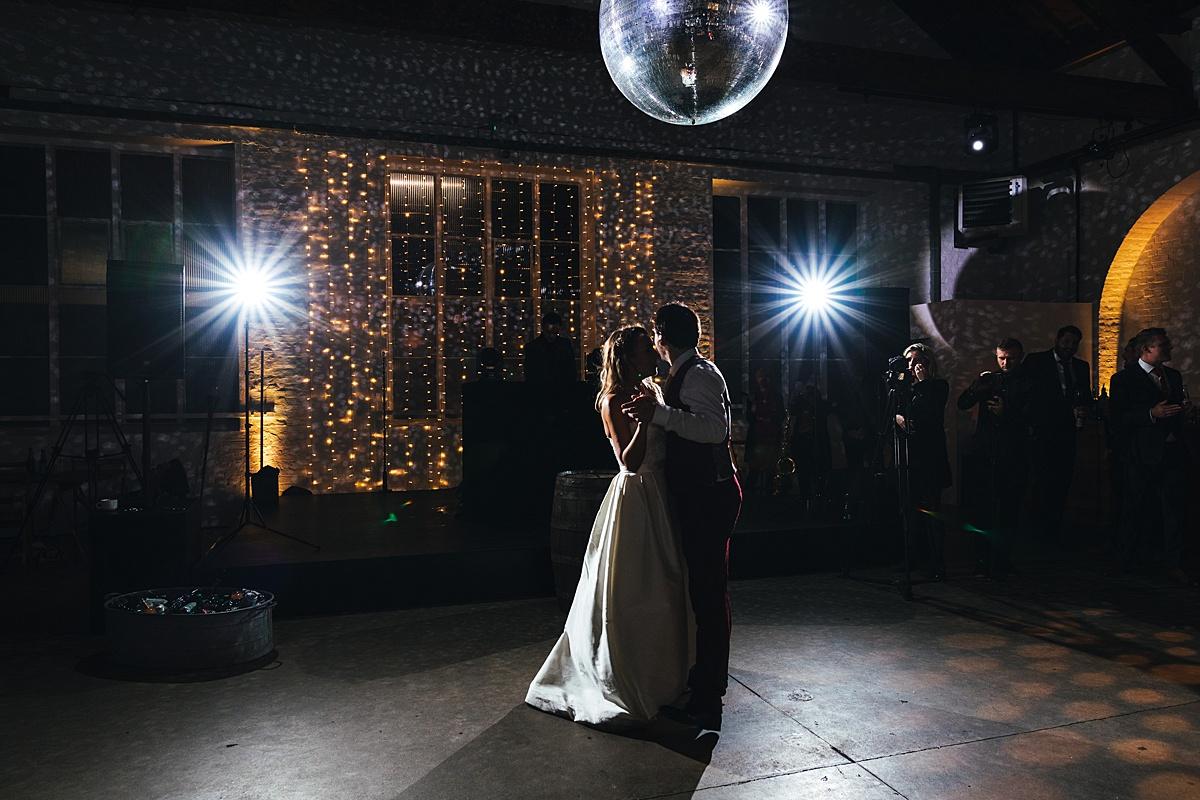 NYE Wedding Trinity Buoy Wharf first dance