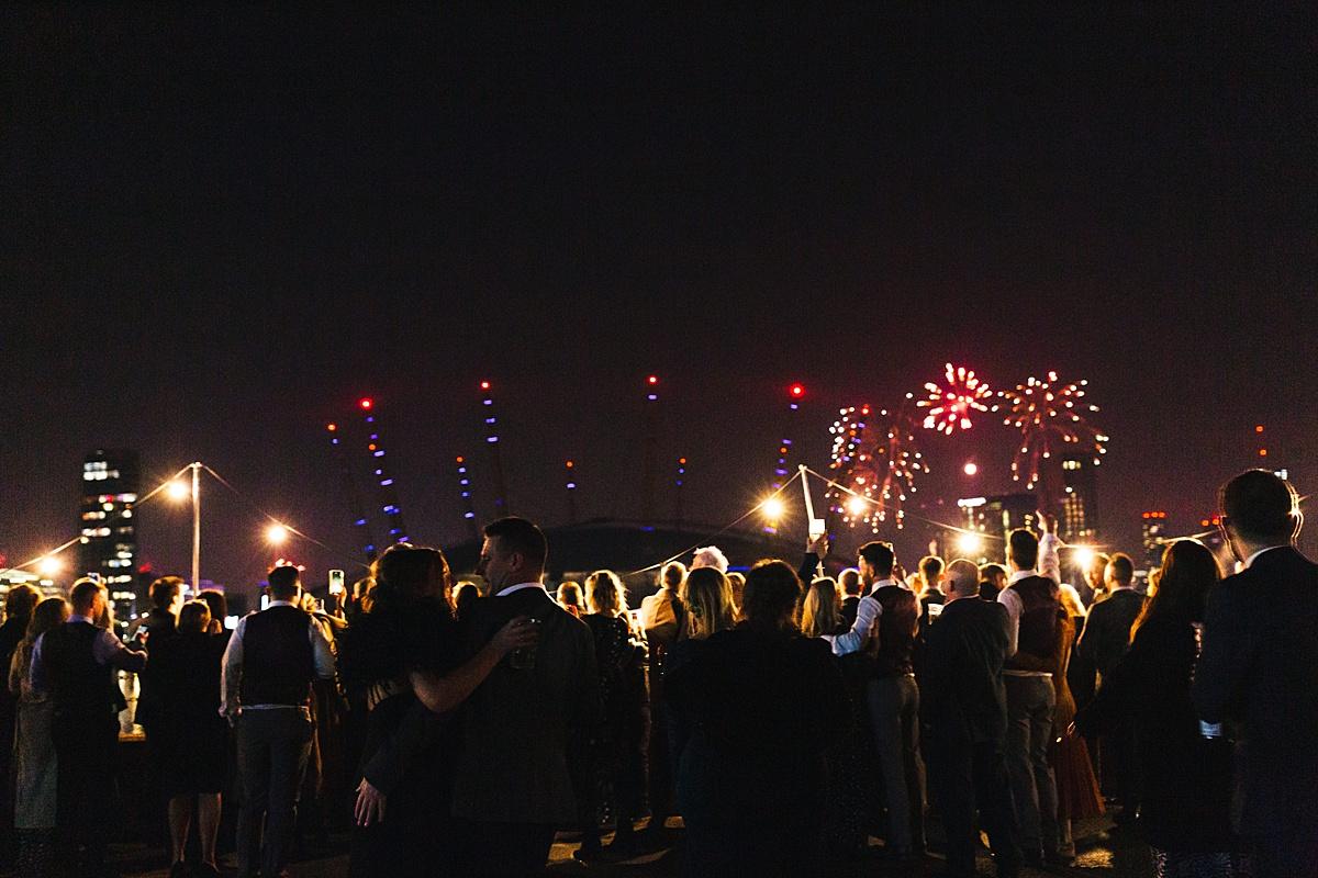 NYE Wedding Trinity Buoy Wharf fireworks