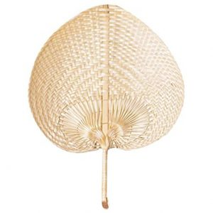 Homemust Portable Hand-Made Palm Fan Bamboo Rattan Fan Summer Mosquito Repellent Fan Home Party Decoration
